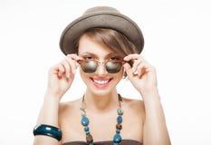 Ritratto divertente di estate della ragazza Fotografie Stock