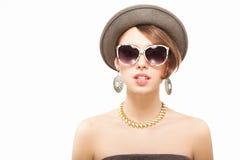 Ritratto divertente di estate della ragazza Immagini Stock Libere da Diritti