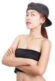 Ritratto dominante della giovane signora Fotografie Stock