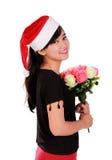 Ritratto elegante della ragazza di Natale fotografia stock libera da diritti