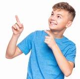 Ritratto emozionale del ragazzo teenager Immagini Stock Libere da Diritti