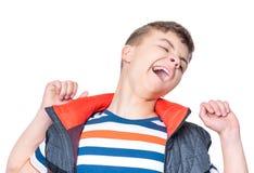 Ritratto emozionale del ragazzo teenager Fotografia Stock