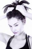 Ritratto erotico della donna del brunette in in bianco e nero Immagine Stock Libera da Diritti