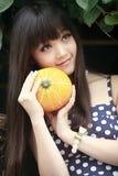 Ritratto esterno della ragazza cinese Fotografia Stock