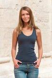 Ritratto esterno di giovane donna Immagine Stock Libera da Diritti