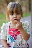 Ritratto esterno di posizione del bambino Fotografia Stock Libera da Diritti