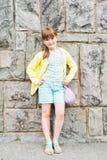 Ritratto esterno di una bambina sveglia Immagine Stock Libera da Diritti