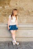 Ritratto esterno di una bambina sveglia Immagini Stock