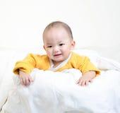 ritratto felice del neonato Immagine Stock