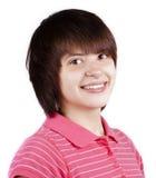 Ritratto felice dell'adolescente isolato Fotografia Stock Libera da Diritti