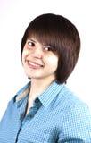 Ritratto felice dell'adolescente isolato Immagini Stock Libere da Diritti