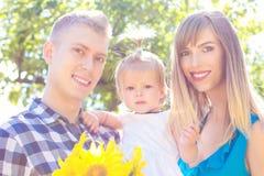 Ritratto felice della famiglia fotografia stock