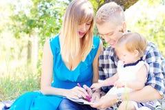 Ritratto felice della famiglia fotografia stock libera da diritti