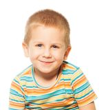 Sorridendo quattro anni del ragazzo Fotografia Stock Libera da Diritti