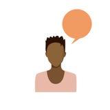 Ritratto femminile afroamericano Person Silhouette Face casuale della donna dell'avatar dell'icona di profilo Fotografia Stock