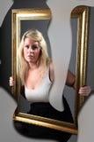 Ritratto femminile astratto Immagini Stock