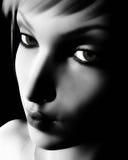 Ritratto femminile in bianco e nero di Digitahi Fotografia Stock Libera da Diritti