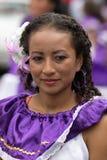 Ritratto femminile nazionale nell'Ecuador Fotografie Stock
