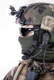 Ritratto francese del fronte del paracadutista fotografia stock libera da diritti