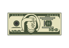 Ritratto Franklin del dollaro OMG Fondi U.S.A. Valuta americana Oh Illustrazione di Stock