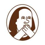 Ritratto Franklin OMG Oh il mio dio Benjamin Franklin Illustrazione Vettoriale