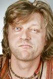 Ritratto Full-face dell'uomo Fotografie Stock