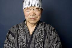 Ritratto giapponese maggiore dell'uomo Fotografia Stock Libera da Diritti