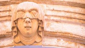 Ritratto gotico della giovane donna immagine stock