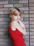 Ritratto Half-length di giovane donna. fotografia stock libera da diritti