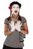 Ritratto impressionabile del mime Fotografia Stock