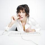 Ritratto inquietante del frontal della donna di affari Fotografia Stock Libera da Diritti
