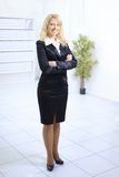 Ritratto integrale della donna di affari fotografie stock