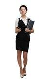 Ritratto integrale della donna di affari graziosa Fotografia Stock
