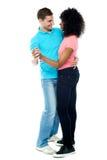 Ritratto integrale delle coppie adorabili di dancing immagine stock