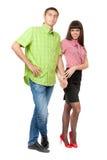 Ritratto integrale di giovane coppia nell'amore Immagine Stock