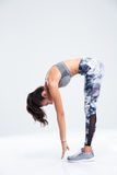 Ritratto integrale di un allenamento della donna di forma fisica Immagine Stock Libera da Diritti