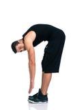 Ritratto integrale di un allungamento dell'uomo di forma fisica Fotografia Stock Libera da Diritti