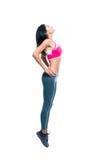 Ritratto integrale di un allungamento della donna di forma fisica Fotografia Stock Libera da Diritti