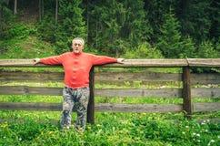 Ritratto integrale di un uomo senior Fotografia Stock Libera da Diritti