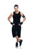 Ritratto integrale di un uomo sicuro di forma fisica Fotografie Stock Libere da Diritti
