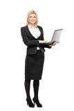 Ritratto integrale di una donna di affari Fotografie Stock Libere da Diritti