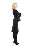 Ritratto integrale di una donna di affari Immagini Stock Libere da Diritti