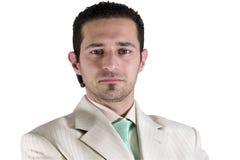 Ritratto isolato dell'uomo d'affari Fotografia Stock Libera da Diritti
