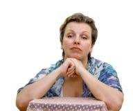 Ritratto isolato di una donna. Immagini Stock Libere da Diritti