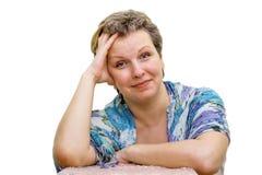 Ritratto isolato di una donna. Fotografie Stock Libere da Diritti