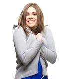 Ritratto isolato donna Fotografia Stock Libera da Diritti
