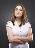 Ritratto isolato donna Fotografie Stock