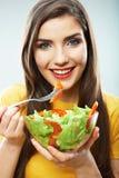 Ritratto isolato donna di dieta Chiuda sul fronte femminile Immagine Stock Libera da Diritti
