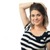 Ritratto isolato donna felice Fotografia Stock Libera da Diritti