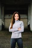 Ritratto latino dell'atleta femminile di forma fisica Fotografie Stock Libere da Diritti